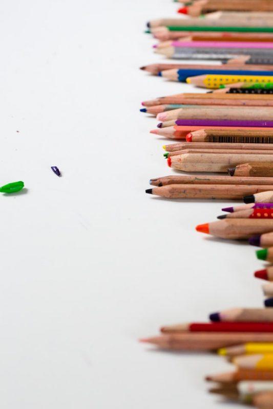 prendere appunti matite colori